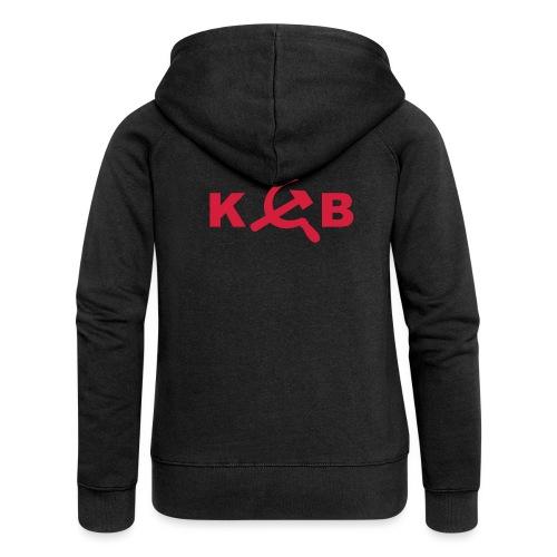 KGB 1-farbig - Frauen Premium Kapuzenjacke