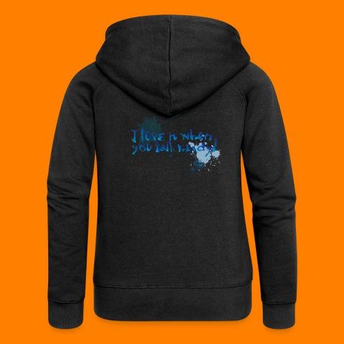 talk nerdy - Women's Premium Hooded Jacket