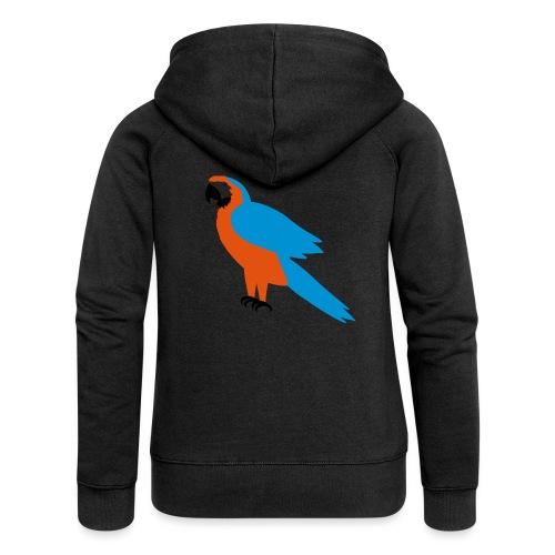 Parrot - Felpa con zip premium da donna