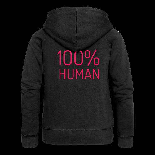100% Human in roze - Vrouwenjack met capuchon Premium
