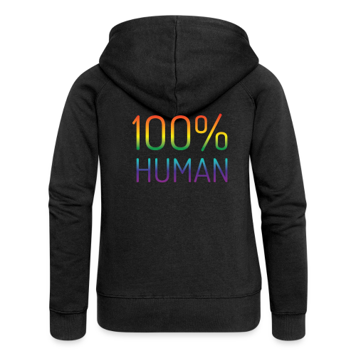100% Human in regenboog kleuren - Vrouwenjack met capuchon Premium
