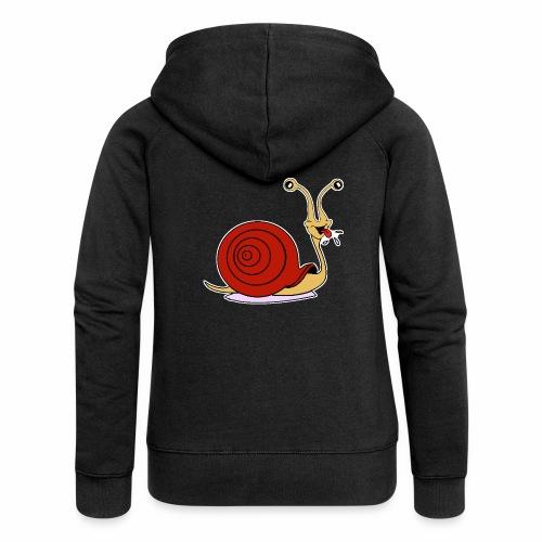 Escargot rigolo red version - Veste à capuche Premium Femme