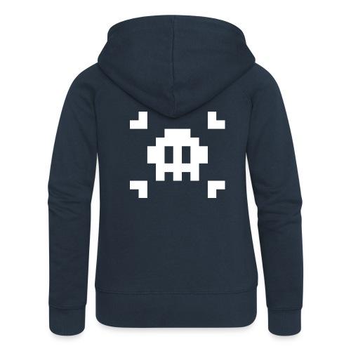 Pixel Skull - Veste à capuche Premium Femme