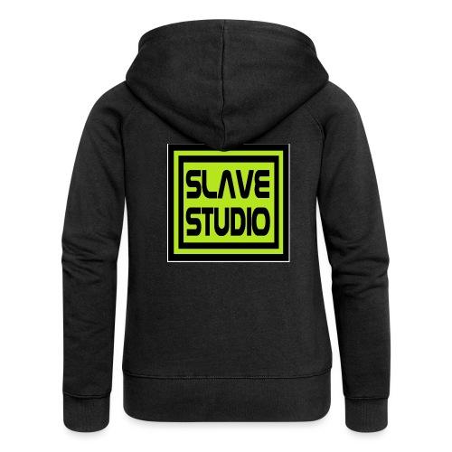 Slave Studio logo - Felpa con zip premium da donna