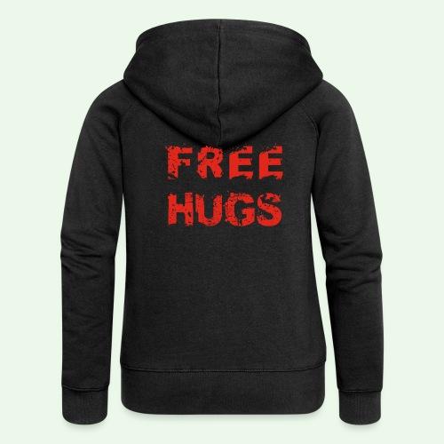 Free Hugs // Flirten // T-Shirt - Frauen Premium Kapuzenjacke
