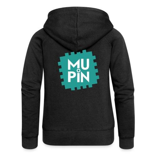Logo Mupin quadrato - Felpa con zip premium da donna