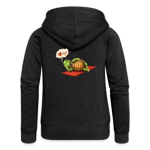 Love-Yoga Turtle - Frauen Premium Kapuzenjacke