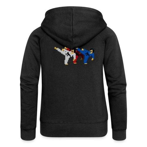 8 bit trip ninjas 2 - Women's Premium Hooded Jacket