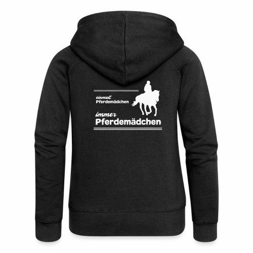 Pferdemädchen Reiten Geschenk Mädchen Pferde - Frauen Premium Kapuzenjacke