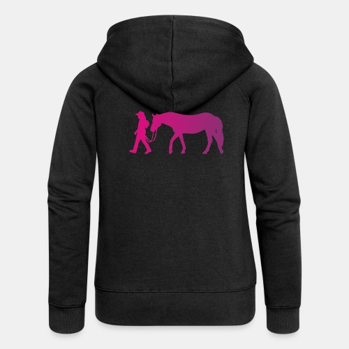 Mädchen führt Pferd, Horsemanship - Frauen Premium Kapuzenjacke