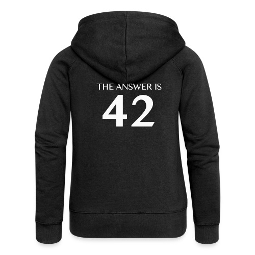 The Answer is 42 White - Women's Premium Hooded Jacket