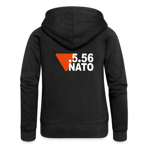 .5.56 NATO BLANC - Veste à capuche Premium Femme