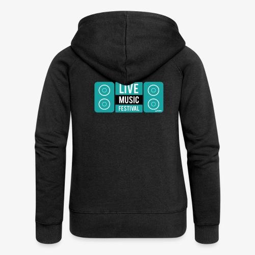 Amo la música - Chaqueta con capucha premium mujer