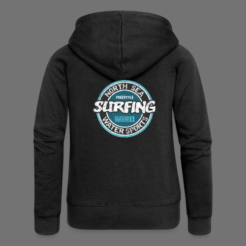 North Sea Surfing (oldstyle) - Women's Premium Hooded Jacket