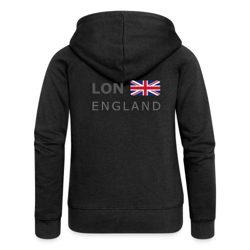 LON ENGLAND BF dark-lettered 400 dpi - Women's Premium Hooded Jacket