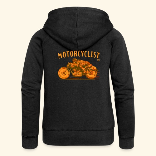 motorcyclist shirt - Women's Premium Hooded Jacket