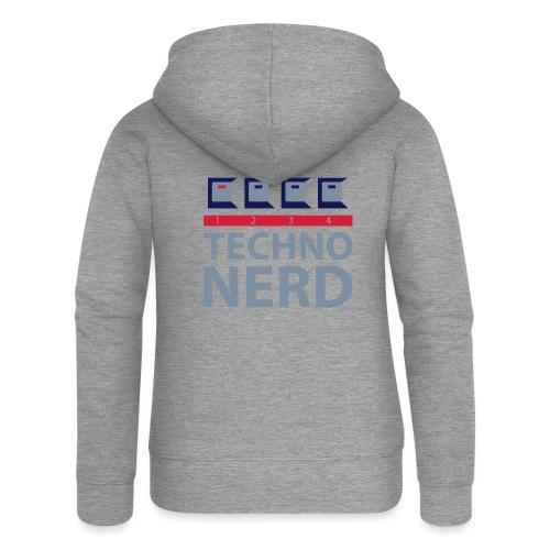 Techno Nerd - Women's Premium Hooded Jacket