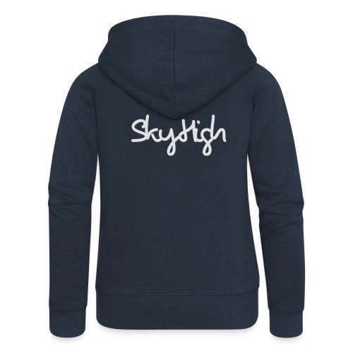 SkyHigh - Bella Women's Sweater - Light Gray - Women's Premium Hooded Jacket