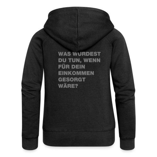Grundeinkommen BGE - Frauen Premium Kapuzenjacke