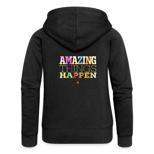 Amazing Things Happen - Simplified - Women's Premium Hooded Jacket