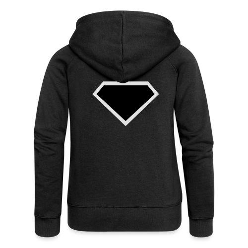 Diamond Black - Two colors customizable - Vrouwenjack met capuchon Premium