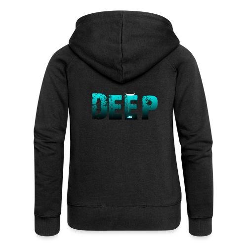 Deep In the Night - Felpa con zip premium da donna