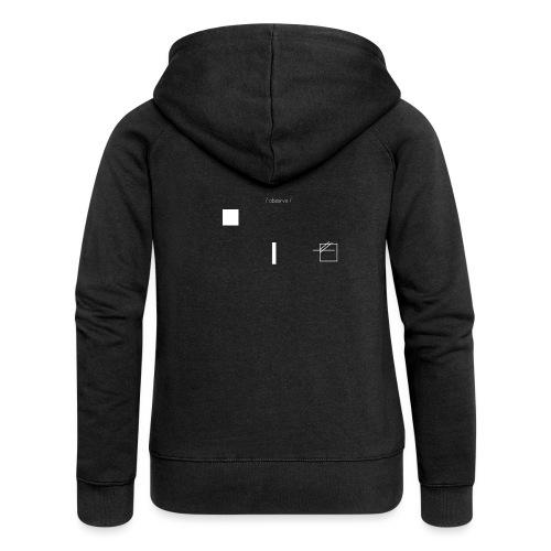 /obeserve/ sweater (M) - Premium hettejakke for kvinner
