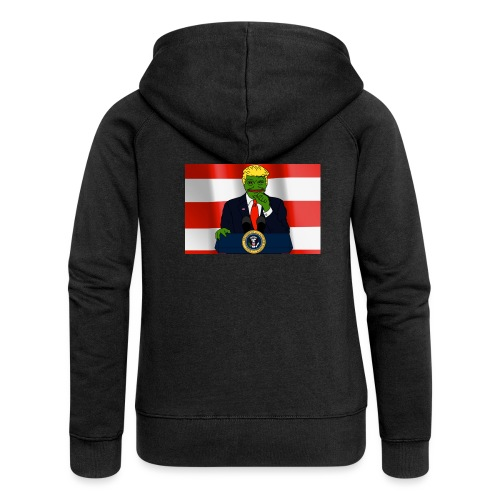 Pepe Trump - Women's Premium Hooded Jacket