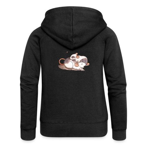 Mice cuddling - Women's Premium Hooded Jacket