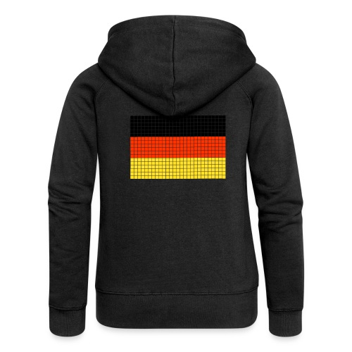german flag.png - Felpa con zip premium da donna
