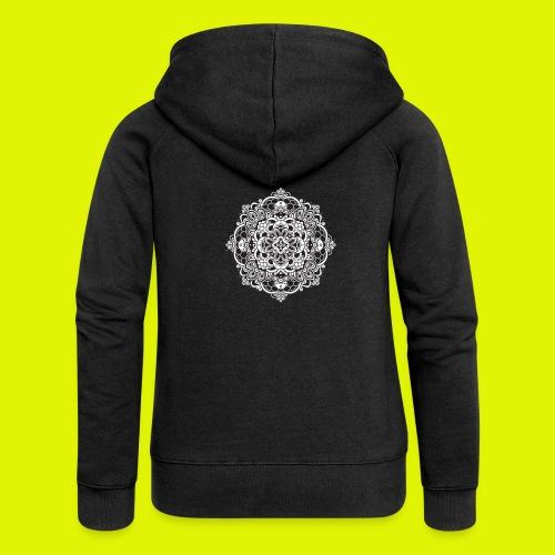 Mandala - Felpa con zip premium da donna