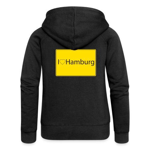 I love hamburg - Frauen Premium Kapuzenjacke