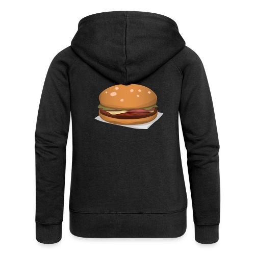 hamburger-576419 - Felpa con zip premium da donna