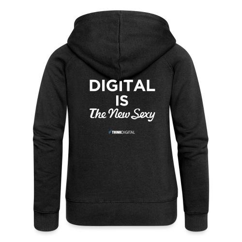 Digital is the New Sexy - Felpa con zip premium da donna