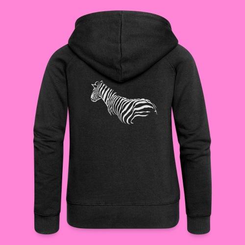 zebra1 - Vrouwenjack met capuchon Premium