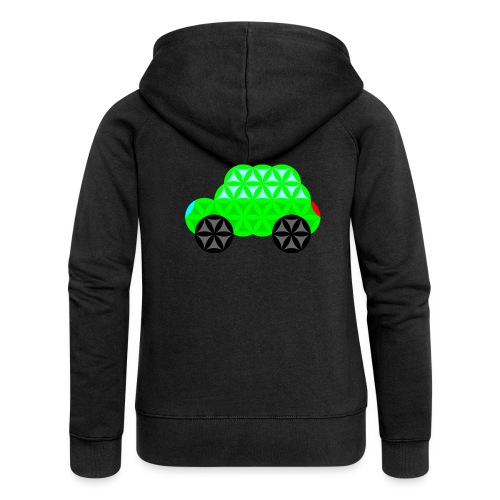 The Car Of Life - M01, Sacred Shapes, Green/R01. - Women's Premium Hooded Jacket