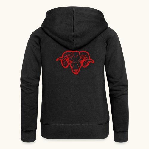 Roter Widderkopf Rammbock Geschenkidee Teufel - Veste à capuche Premium Femme