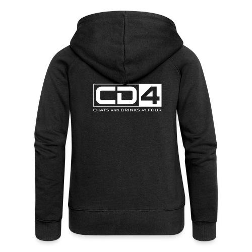 cd4 logo dikker kader bold font - Vrouwenjack met capuchon Premium