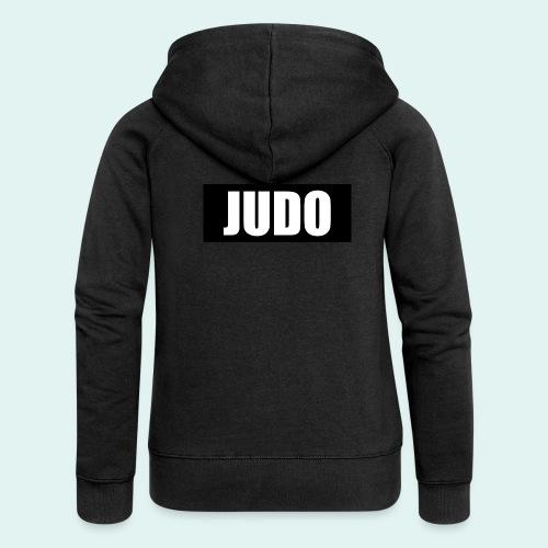 Judo Schwarz DAN - Frauen Premium Kapuzenjacke
