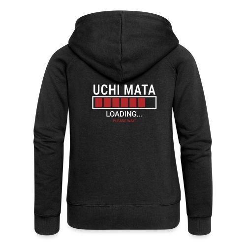 Uchi Mata Loading... pleas Wait - Rozpinana bluza damska z kapturem Premium