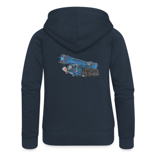 Mobile Crane 4-axle - Blue - Women's Premium Hooded Jacket