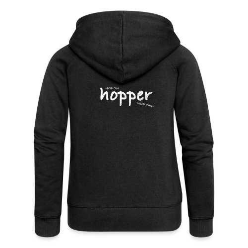 Hoppers Hop On and Off (white) - Chaqueta con capucha premium mujer