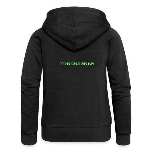 Tshirt Green triangles big - Frauen Premium Kapuzenjacke