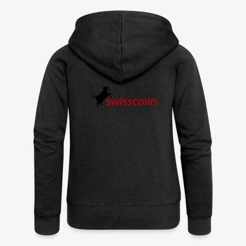 Schwarz-Rot Hoodie - Frauen Premium Kapuzenjacke