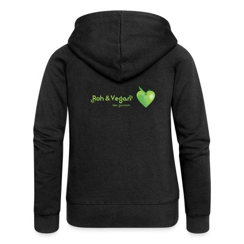 Roh & Vegan grünes Apfelherz (Rohkost) - Frauen Premium Kapuzenjacke