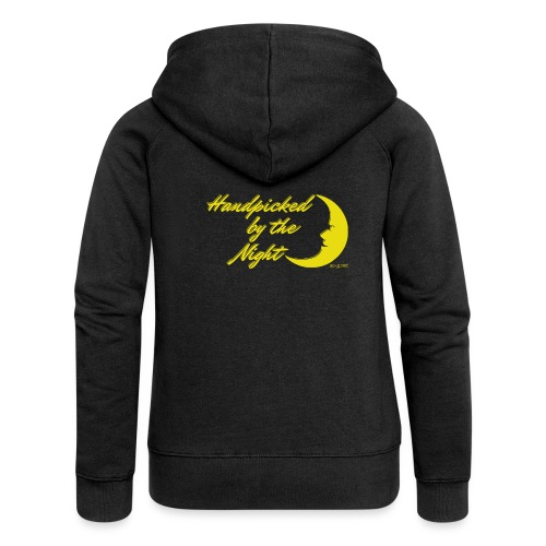 Handpicked design By The Night - Logo Yellow - Women's Premium Hooded Jacket