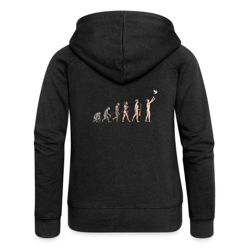 Evolution of Peace - Women's Premium Hooded Jacket