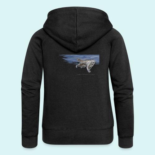 Polar-Blues-SpSh - Women's Premium Hooded Jacket
