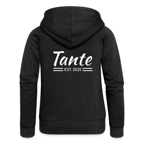 Stolze Tante 2020 Shirt Geschenk - Frauen Premium Kapuzenjacke