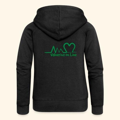 logo verde Associazione Valnerina On line - Felpa con zip premium da donna